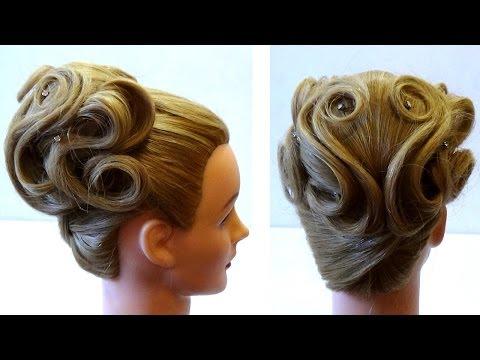 свадебная причёска своими руками на длинные волосы фото