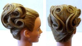 Свадебная прическа средние волосы 💕Прически своими руками