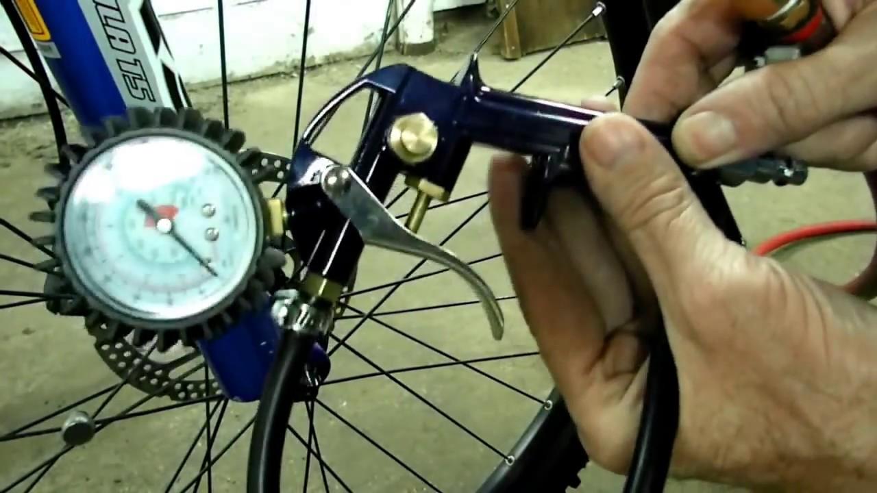 Bicycle Tire Inflator Presta Valve Youtube