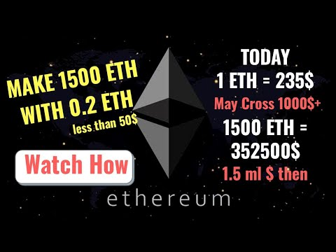 World's Best Online Money Earning opportunity. How to earn 1500 Ethereum with just 15$. Watchout.