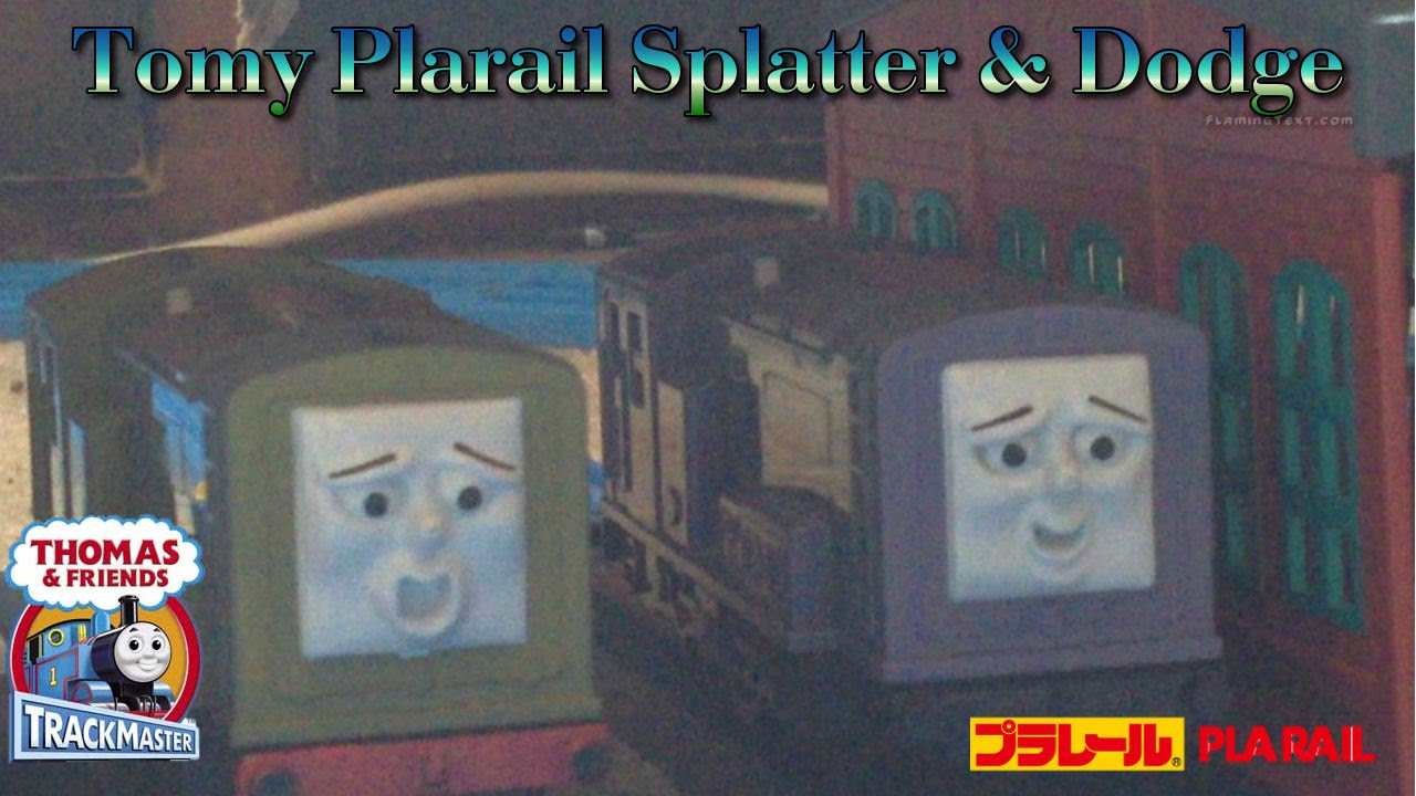 Tomy Plarail Splatter And Dodge Unwrap Review First Run With Race