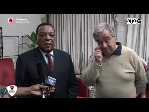 Katibu mkuu UN alivyotua Tanzania na kuondoka baada ya dakika chache