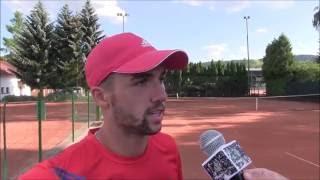 Dominik Kellovský po prvním kole deblu na turnaji Futures v Ústí n. O.