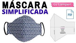 Máscara Simplificada com Moldes Grátis em PDF