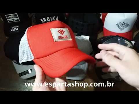 Boné Masculino Aba Curva Vermelho Trucker Snapback Legalize - 2583 ... 931065b2222