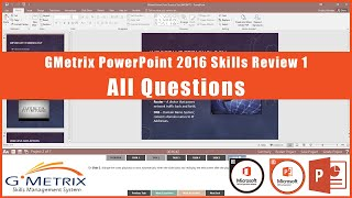 GMetrix PowerPoint Core Skills Review 1 - All Questions