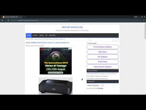 Cara Download Dan Install Driver Printer Canon Tanpa CD Driver.
