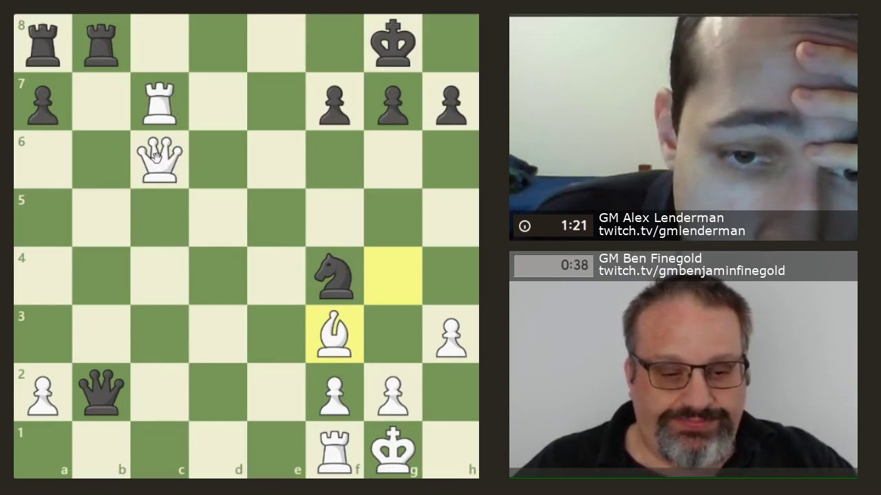 Sync'd Chess #24 GM Ben Finegold vs GM Alex Lenderman