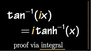 the COMPLEX relationship between tan^-1(x) and tanh^-1(x)