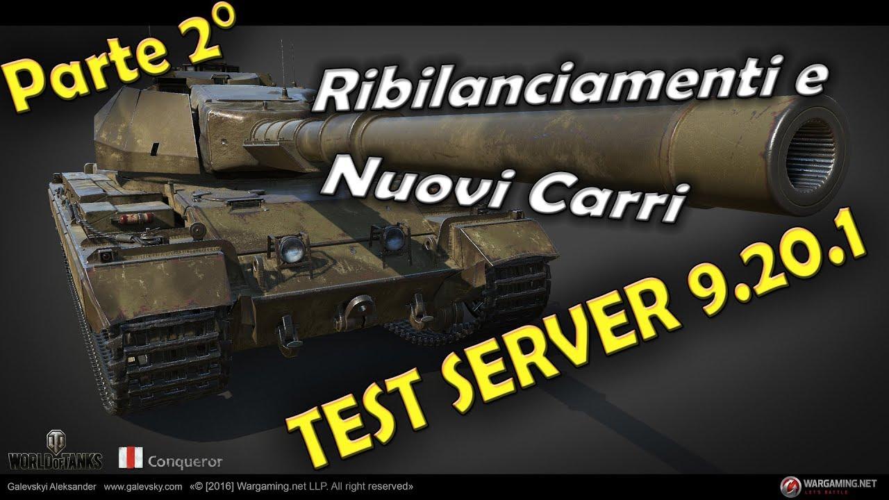 serveur test wot 9.20