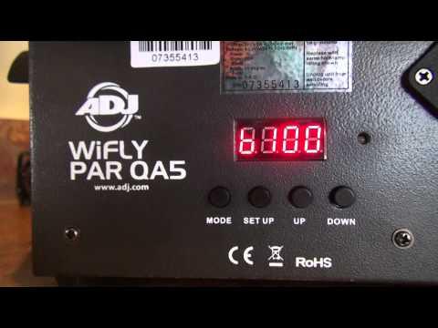ADJ's WiFLY RGBW8C - How To Set It Up