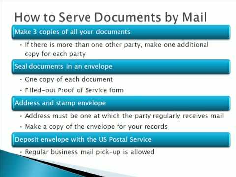 how to accomplish proof of service by mail in california youtube