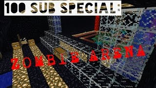 100 sub special zombie arena map for mcpe download