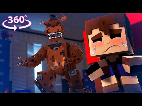 360° Five Nights At Freddy's - NIGHTMARE FREDDY VISION - Minecraft 360° VR Video