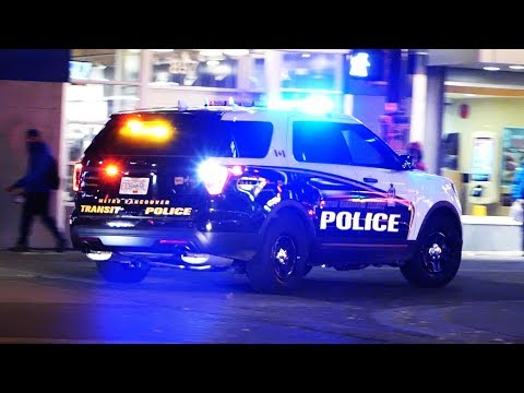 Transit Police Responding with Dual Sirens, Vancouver BC, 28 Oct