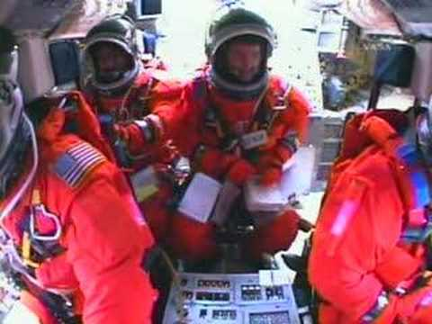 STS-122 LAUNCH (COCKPIT VIEW)