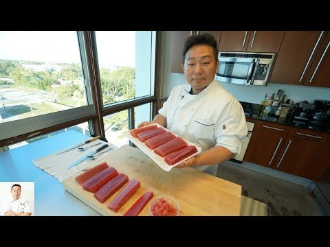 How To Process Tuna Block For Sushi: Part 1 | How To Make Sushi Series