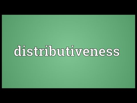 Header of distributiveness