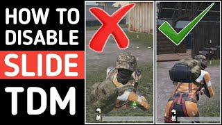 How to Disable Slide in TDM Mode || How to Enable Crouch in TDM || PUBG Mobile