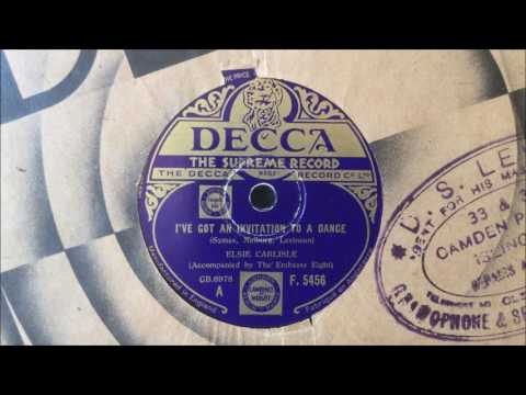 "Elsie Carlisle (with The Embassy Rhythm Eight) - ""I've Got an Invitation to a Dance"" (1935)"