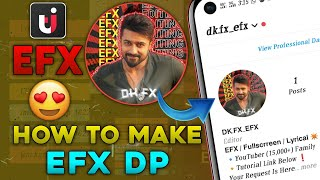 EFX DP Making In Alight Motion | How To Make Efx DP | EFX Channel Logo Editing Tamil | Tech Isolate