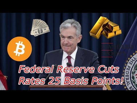 Bitcoin is Up $400! Federal Reserve Cuts Rates, US Dollar Two Year High, Stocks Slump.