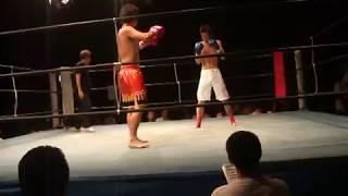 2010-8-22-  伝統空手(松濤館流)VSキックボクサー キックボクシング試合