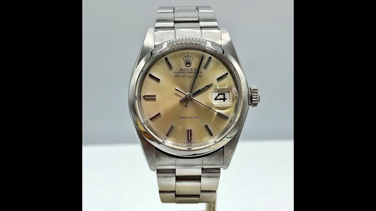 Vintage Rolex Air king Date Ref 5700 Tropical Dial 1968 Awad Watches