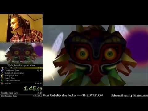 The Legend of Zelda: Majora's Mask 100% Speedrun World Record (4:52:18)