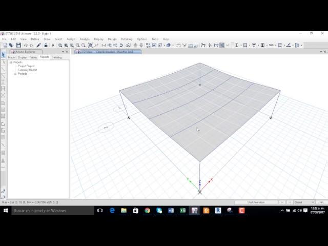Comprobación de Analisis Gravitacional Structural Analysis for Revit vs Etabs parte 1