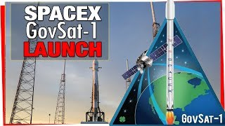 SpaceX Launch - Falcon 9 launch and deployment of Gov Sat 1