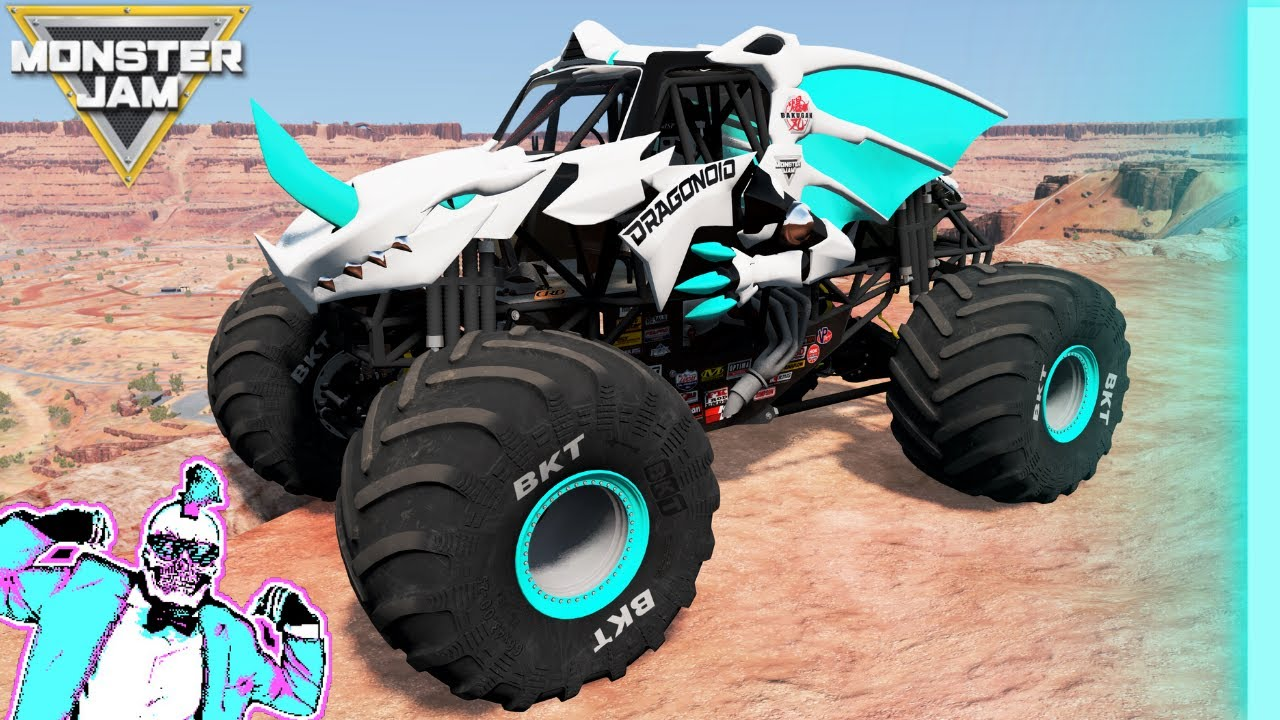 Monster Jam INSANE High Speed Jumps and Crashes New Map #19   BeamNG Drive