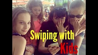 Dating Advice: Swiping with Kids (Kids React)