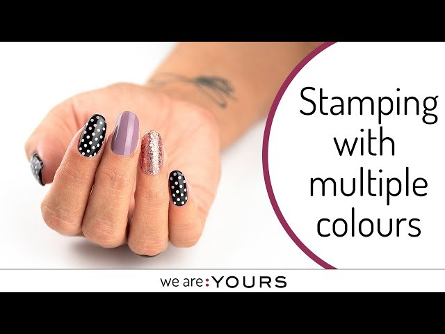 Stamping with multiple colours