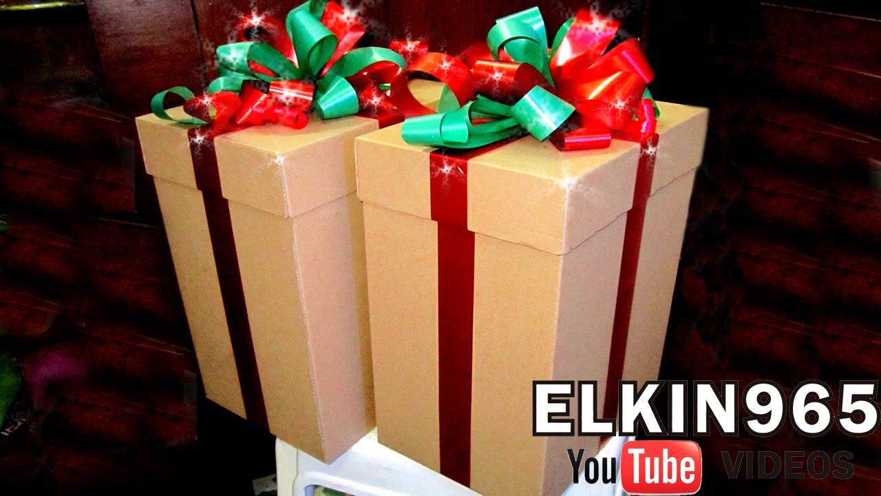 Como hacer una caja para regalo 2013 youtube for Roba usata regalo