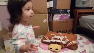 Tiny Girl Reads Bubbles Bubbles