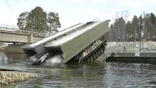 Instant Bridge Making Vehicle