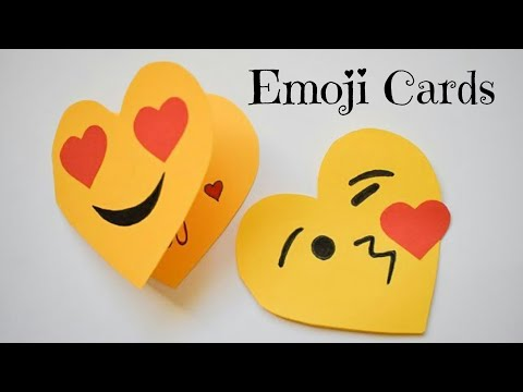 Cute Emoji Card for Valentine's Day | DIY Emoji Craft Ideas | Fun Paper Crafts for Valentine's Day