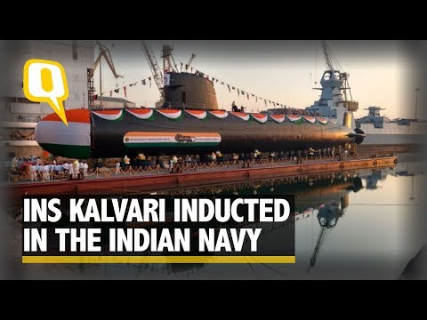 Indian Navy Gets its First Scorpene-Class Submarine 'Kalvari'