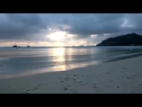 Seychelles Islands, Mahe, Dasha beach. Sunset. Marianna Travel. Закат на Сейшелах.