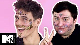 Guys Try Coachella Inspired Festival Glitter | MTV Style