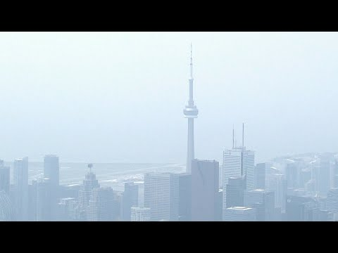 Air quality in Toronto plummets as city blanketed by wildfire smoke, haze