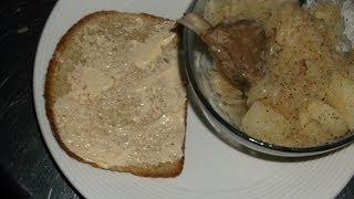 Spare Rib Scraps & kraut after st louis cut, not pig knuckles and sauerkraut
