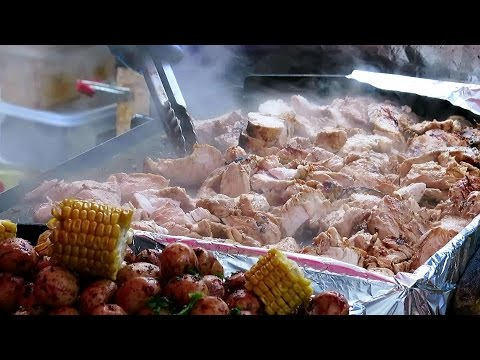 London Street Food from Peru, South America. Seen and Eaten in Camden Market