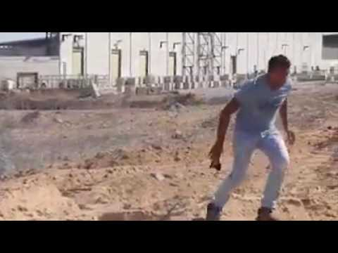 Palestinian rioter get shot in the leg by IDF ,Israel Gaza border