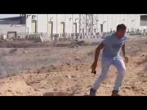 Palestinian rioter get shot in the leg by IDF ,Israel Gaza border