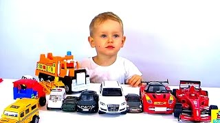 Машинки и Суперкары! Тачки для детей 3  4 лет. Игрушки для мальчиков 🚍🚗