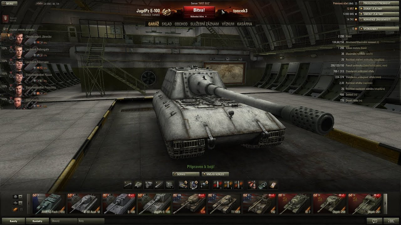 Download World of Tanks CZ - JagdPanzer E-100