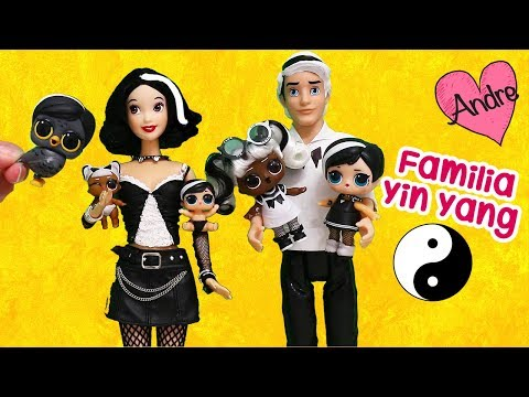 La familia LOL Yin Yang!!! Jugando muñecas y juguetes con Andre para niñas y niños