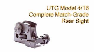 AR15 Rear Sight UTG Model 4/16 Rear Sight Review!